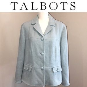 Baby blue Talbots Coat